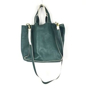 GAP Forest Green Leather Crossbody Bag and Tote